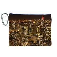 New York City At Night Future City Night Canvas Cosmetic Bag (XL)