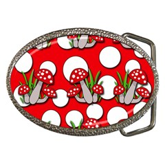Mushrooms pattern Belt Buckles