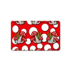 Mushrooms pattern Magnet (Name Card)