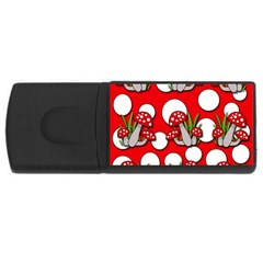 Mushrooms pattern USB Flash Drive Rectangular (1 GB)