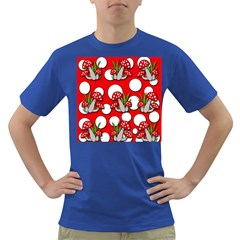 Mushrooms pattern Dark T-Shirt