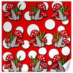 Mushrooms pattern Canvas 16  x 16
