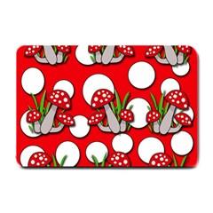 Mushrooms pattern Small Doormat