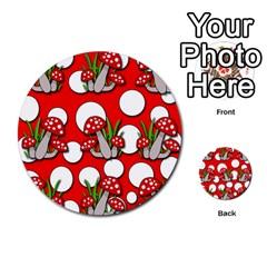 Mushrooms pattern Multi-purpose Cards (Round)