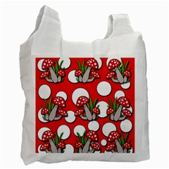 Mushrooms pattern Recycle Bag (Two Side)