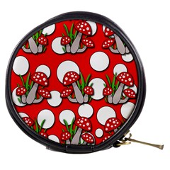 Mushrooms pattern Mini Makeup Bags