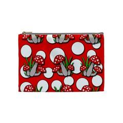 Mushrooms pattern Cosmetic Bag (Medium)