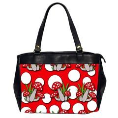 Mushrooms pattern Office Handbags (2 Sides)