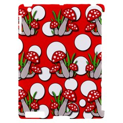 Mushrooms pattern Apple iPad 2 Hardshell Case (Compatible with Smart Cover)