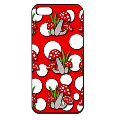 Mushrooms pattern Apple iPhone 5 Seamless Case (Black)