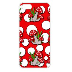 Mushrooms pattern Apple iPhone 5 Seamless Case (White)