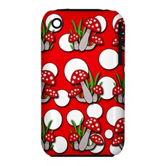 Mushrooms pattern Apple iPhone 3G/3GS Hardshell Case (PC+Silicone)