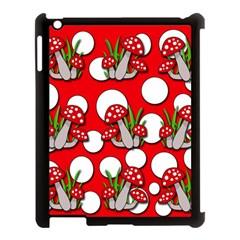 Mushrooms pattern Apple iPad 3/4 Case (Black)