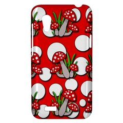 Mushrooms pattern HTC Desire VT (T328T) Hardshell Case