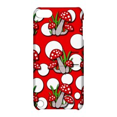 Mushrooms pattern Apple iPod Touch 5 Hardshell Case with Stand