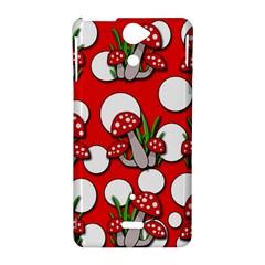 Mushrooms pattern Sony Xperia V