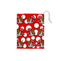 Mushrooms pattern Drawstring Pouches (Small)
