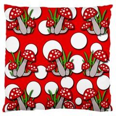 Mushrooms pattern Standard Flano Cushion Case (One Side)