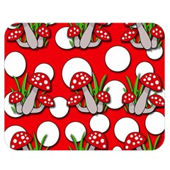 Mushrooms pattern Double Sided Flano Blanket (Medium)
