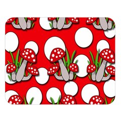 Mushrooms pattern Double Sided Flano Blanket (Large)