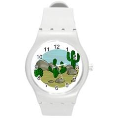 Desert Round Plastic Sport Watch (M)