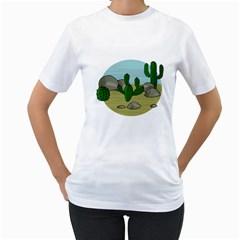 Desert Women s T-Shirt (White)