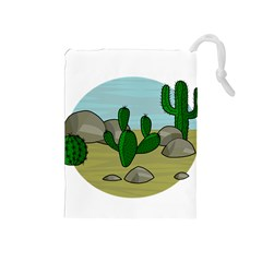 Desert Drawstring Pouches (Medium)