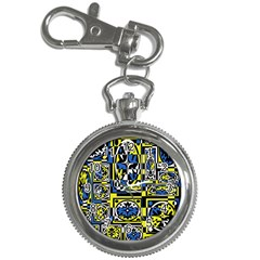 Blue and yellow decor Key Chain Watches