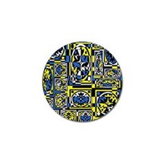 Blue and yellow decor Golf Ball Marker (4 pack)