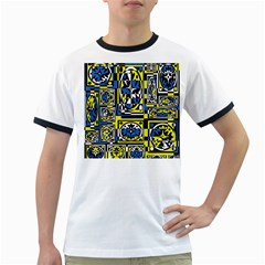 Blue and yellow decor Ringer T-Shirts