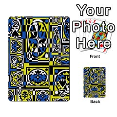 Blue and yellow decor Playing Cards 54 Designs