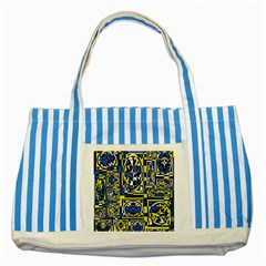 Blue and yellow decor Striped Blue Tote Bag
