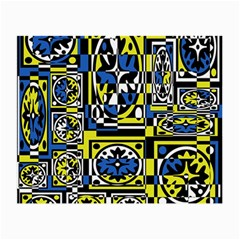Blue and yellow decor Small Glasses Cloth (2-Side)