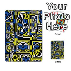 Blue and yellow decor Multi-purpose Cards (Rectangle)