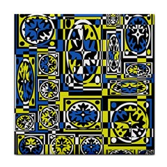 Blue and yellow decor Face Towel
