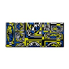 Blue and yellow decor Hand Towel