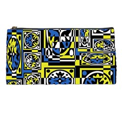 Blue and yellow decor Pencil Cases