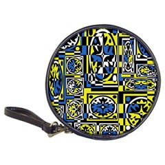 Blue and yellow decor Classic 20-CD Wallets
