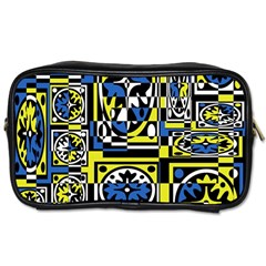 Blue and yellow decor Toiletries Bags