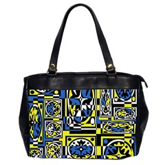 Blue and yellow decor Office Handbags (2 Sides)