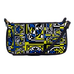 Blue and yellow decor Shoulder Clutch Bags