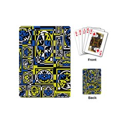 Blue and yellow decor Playing Cards (Mini)