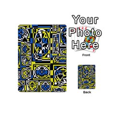 Blue and yellow decor Playing Cards 54 (Mini)