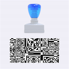Blue and yellow decor Rubber Stamps (Medium)
