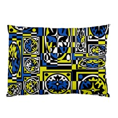 Blue and yellow decor Pillow Case (Two Sides)