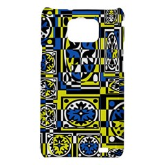 Blue and yellow decor Samsung Galaxy S2 i9100 Hardshell Case