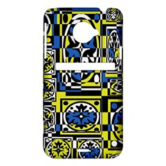 Blue and yellow decor HTC Evo 4G LTE Hardshell Case
