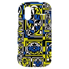 Blue and yellow decor HTC Amaze 4G Hardshell Case