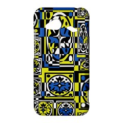 Blue and yellow decor HTC Droid Incredible 4G LTE Hardshell Case