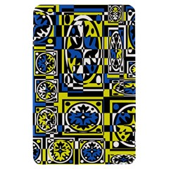 Blue and yellow decor Kindle Fire (1st Gen) Hardshell Case